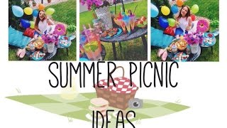 SUMMER PICNIC IDEAS/ cooking/ еда для пикника