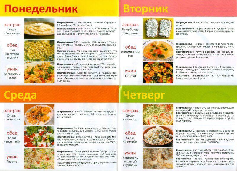 Диета 5 рецепты блюд на каждый день youtube.