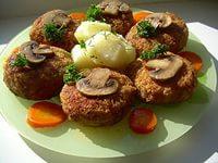 куриные котлеты с грибами